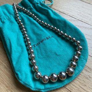 Tiffany & Co Sterling Silver Ball Necklace